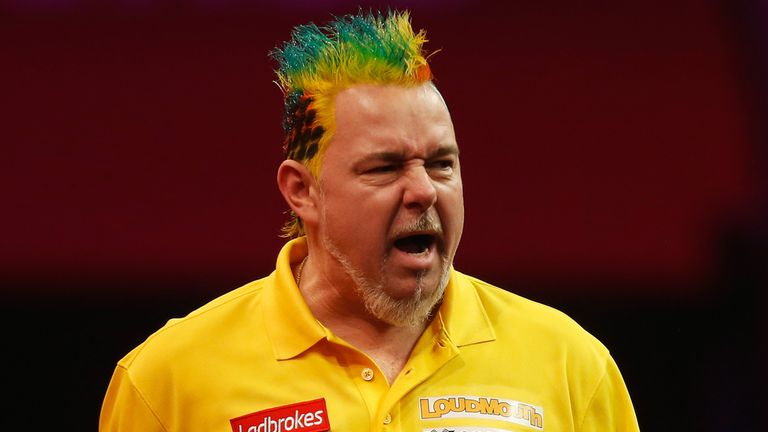 Peter Wright enjoys standing out from the crowd