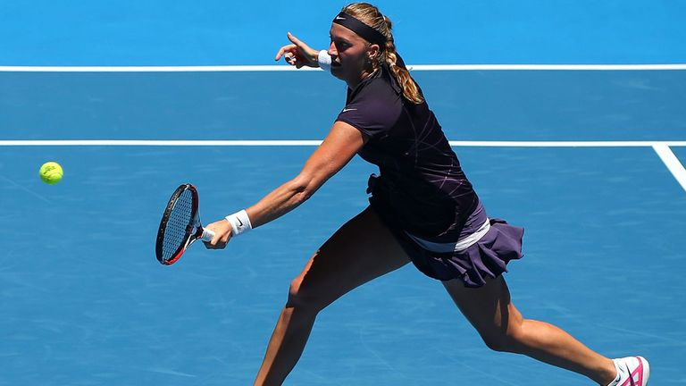 Petra Kvitova: Took an easy victory over Anabel Medina Garrigues in Perth