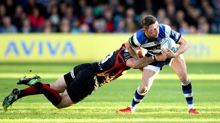 Richard Lane: a hat-trick of tries for Bath