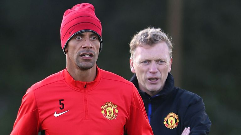 Rio Ferdinand and David Moyes: Manchester United manager still behind his defender
