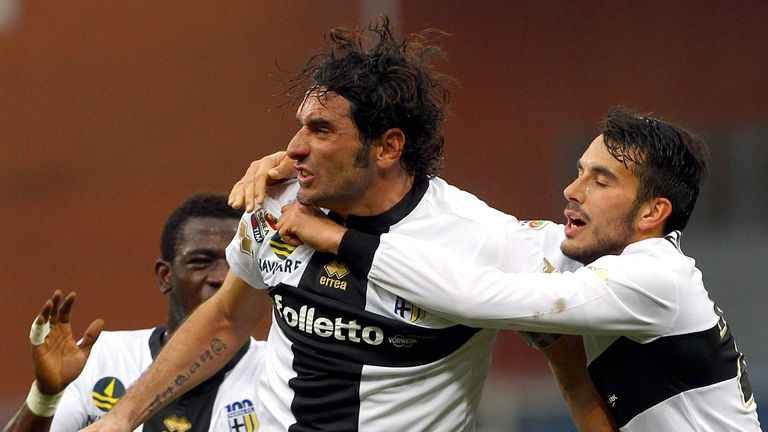 Alessandro Lucarelli celebrates for Parma