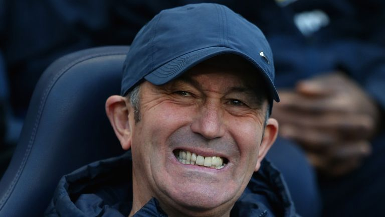Tony Pulis: Happy with his side's performance in the defeat to Man City