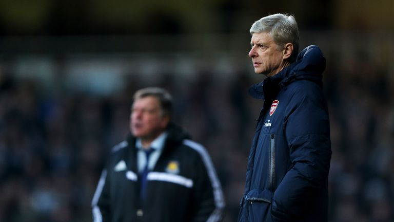 Wenger won all six of his matches against Allardyce's West Ham when the Englishman was in charge at Upton Park