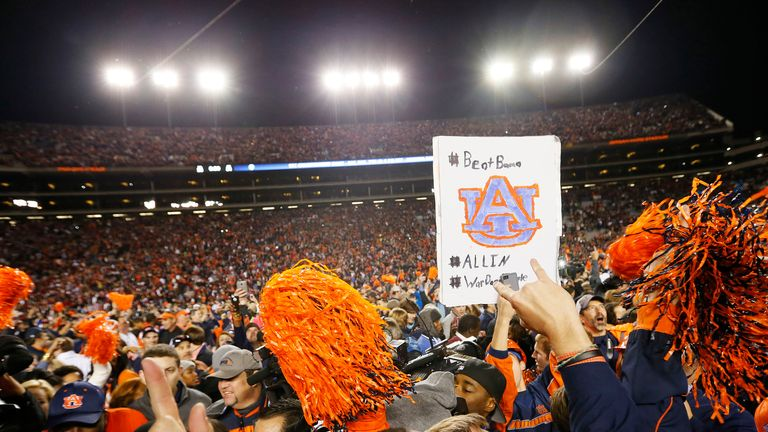 Crazy: Auburn take over the field after they beat Alabama