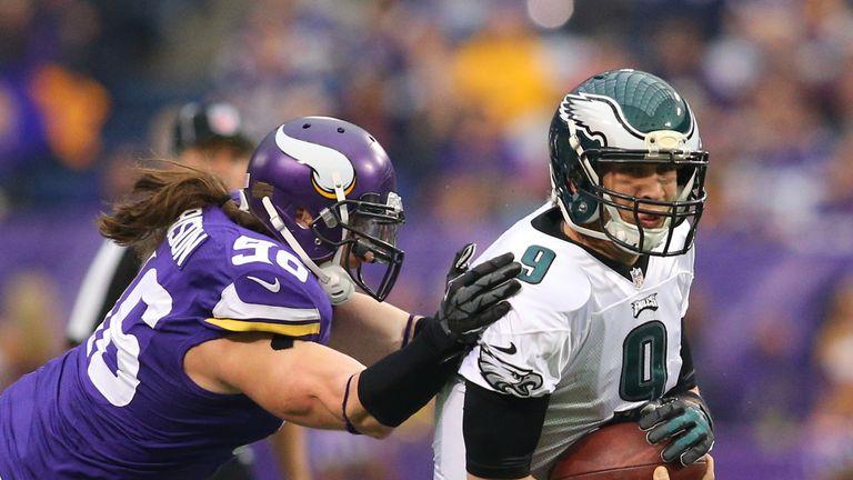 Nick Foles of Philadelphia in a woeful display against Minnesota