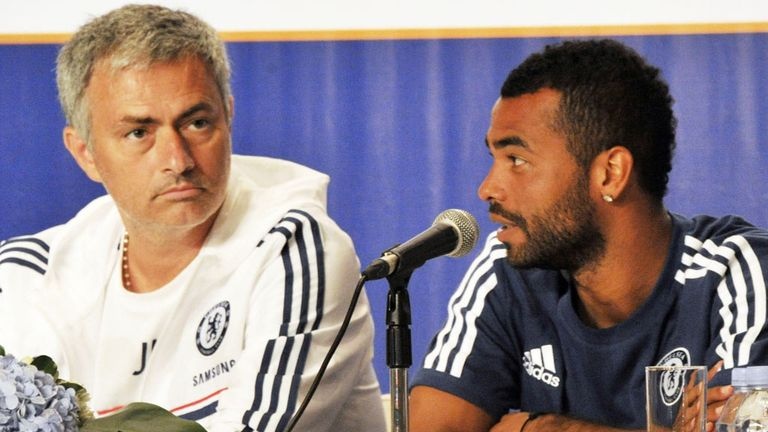 Jose Mourinho (L): Feels Ashley Cole's lack of action can benefit England