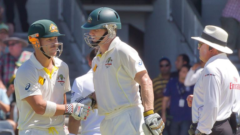 Warner and Rogers: Scored well against England