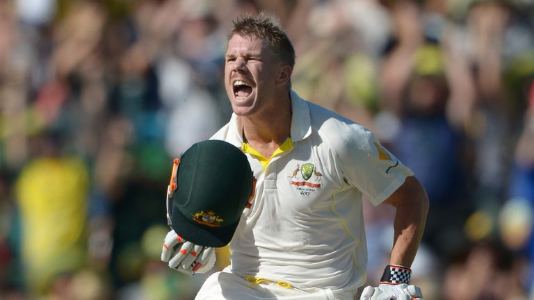 David Warner: Cashed in after a let-off early in his innings on day three