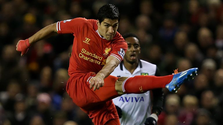 Luis Suarez: Netted four goals against Norwich