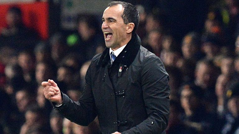 Roberto Martinez: Thrilled by Everton's form