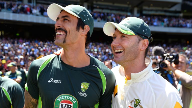 Mitchell Johnson (left): 31 England wickets to date