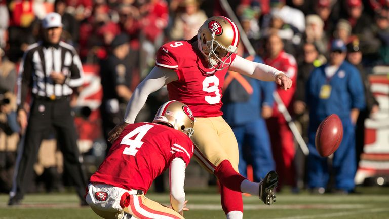 Phil Dawson kicked four field goals - including the winner with 26 seconds left