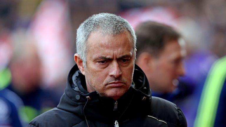 Jose Mourinho: Shows his displeasure at Stoke