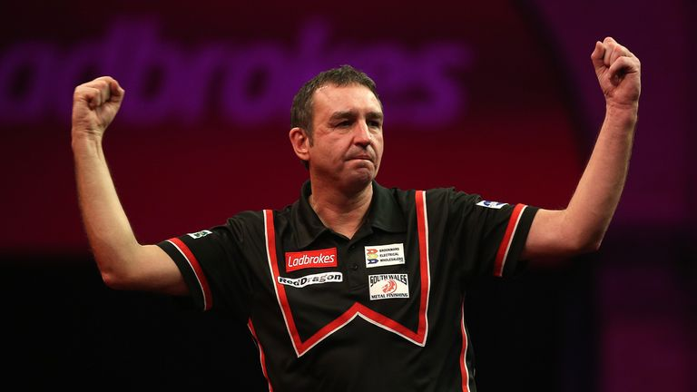 Richie Burnett: Defeated fifth seed Andy Hamilton at Alexandra Palace