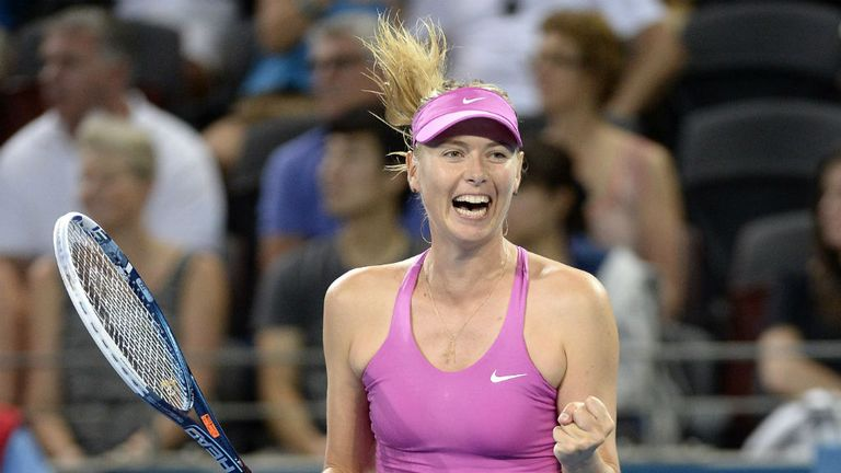 Maria Sharapova: Impressive return to action in Brisbane