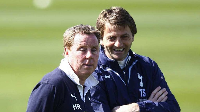 Tim Sherwood: New Tottenham manager with Harry Redknapp on the training ground in 2010