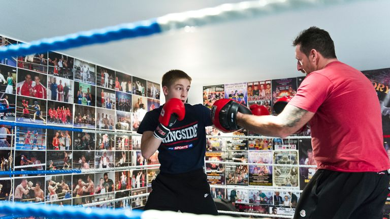 Mark Bateson: Hopes to take son Jack to a variety of different boxing gyms to pick up new tips and techniques