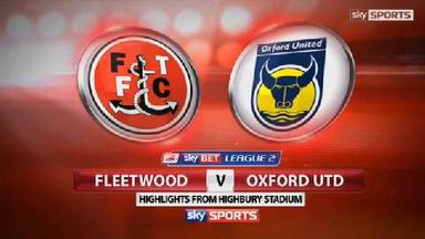 Fleetwood 1-1 Oxford Utd