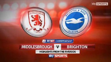 Middlesbrough 0-1 Brighton