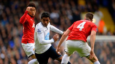 Paulinho: Forced off in the second half of Sunday's victory over Stoke