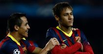 Neymar: Barcelona's Samba superstar secured himself the match ball