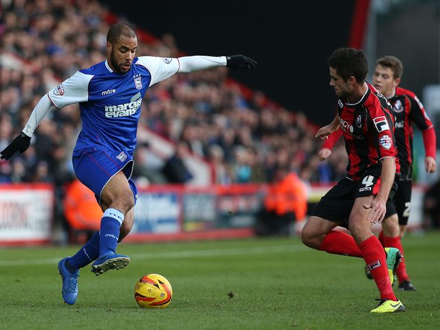 David McGoldrick takes on Andrew Surman
