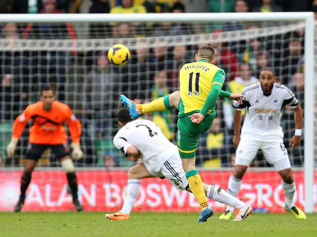 Gary Hooper fires home for Norwich