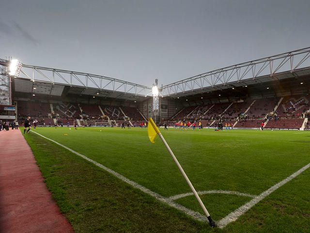 A generic view of Tynecastle before Hearts against Inverness
