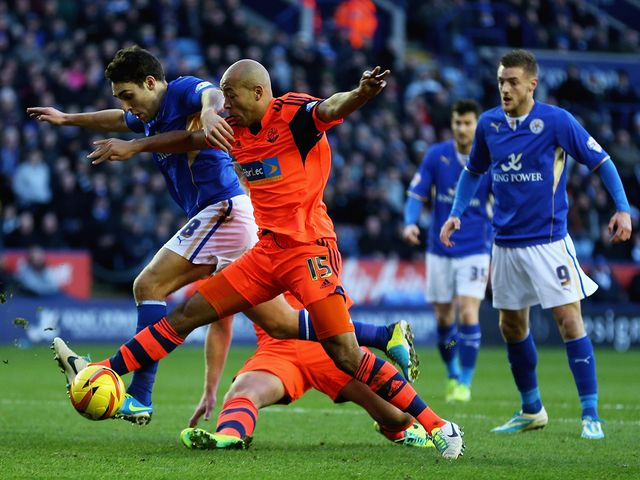 Matthew James and Alex Baptiste tangle