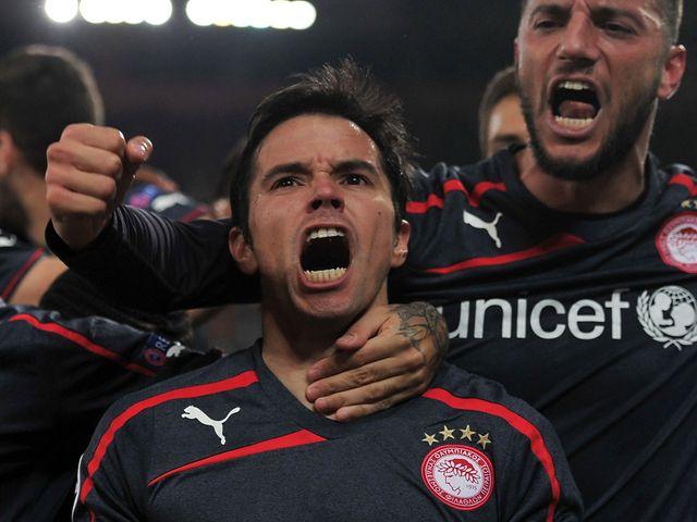 Javier Saviola leads the celebrations