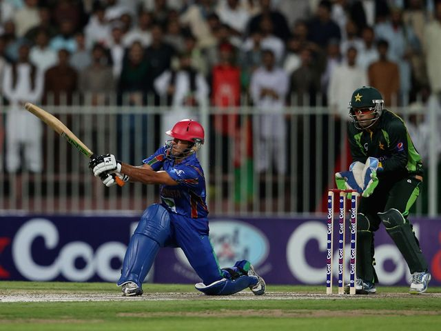 Najibullah Zadran hit 38 from 30 balls for Afghanistan.