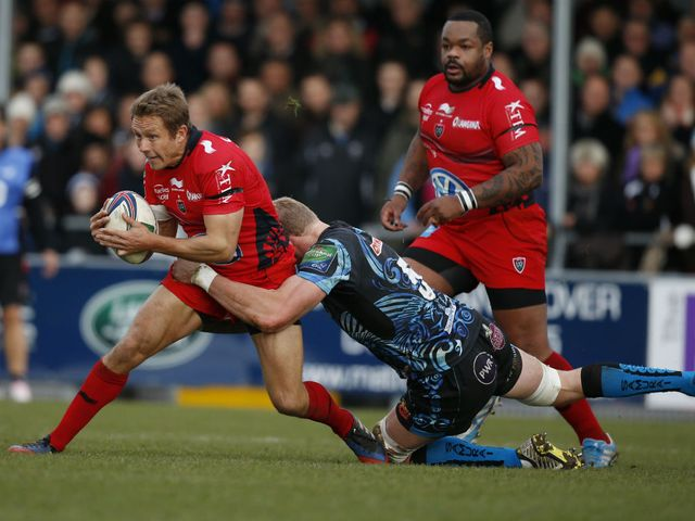 Jonny Wilkinson finds his progress halted.