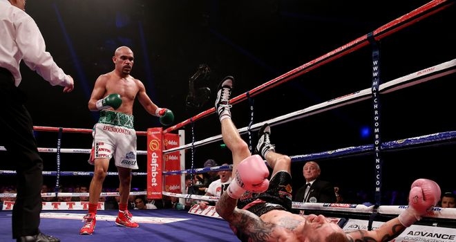 Beltran floors Burns in the eighth round of the September clash