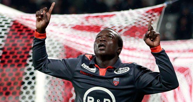 Vincent Aboubakar enjoys his goal.