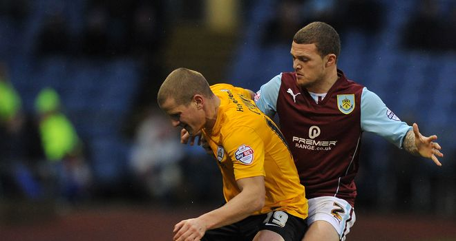 Kieran Trippier: Holds up Barnsley's Tomasz Cywka