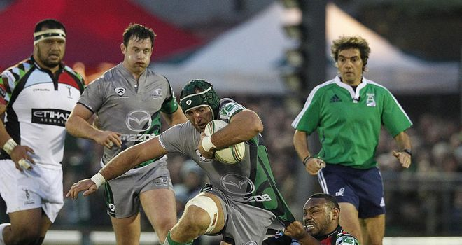 John Muldoon: At the double for Connacht against Dragons