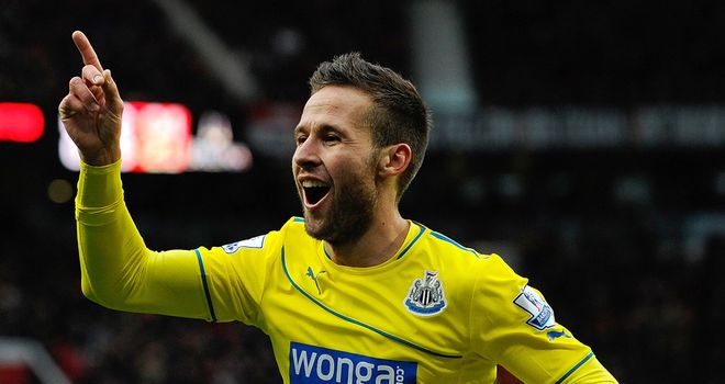 Yohan Cabaye: Secured a famous victory for Newcastle at Old Trafford