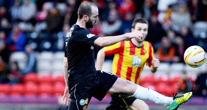 James McFadden: Scores Motherwell's third goal against Partick Thistle