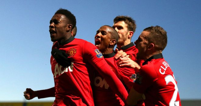 Danny Welbeck: Celebrates his goal at Carrow Road