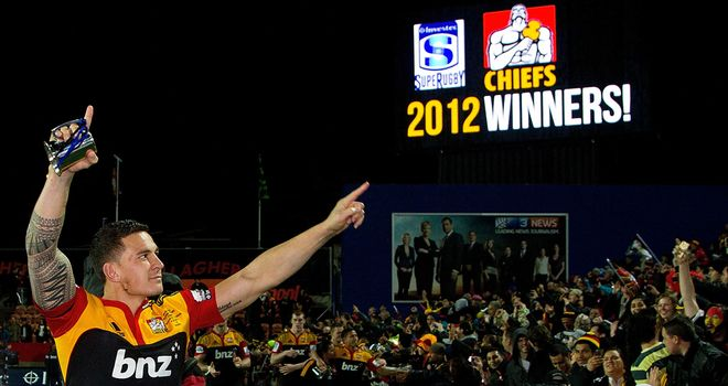 Sonny Bill Williams: Won the Super Rugby title with the Chiefs in 2012