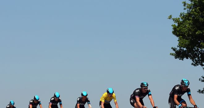 Team Sky - On the road in 2013