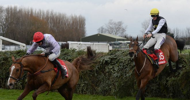 Baby Run (right): Encouraging return at Aintree on Saturday