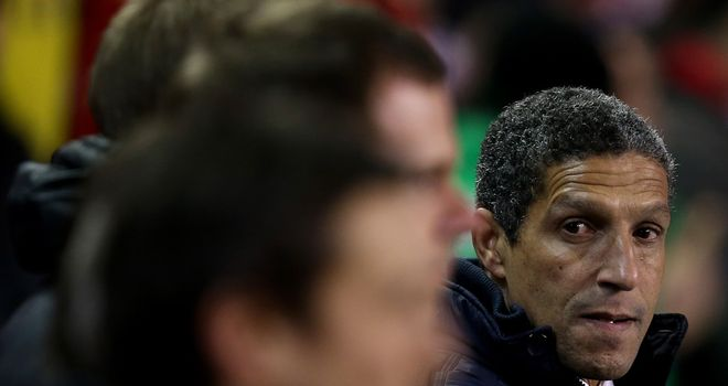 Chris Hughton: Saw his side lose at Anfield