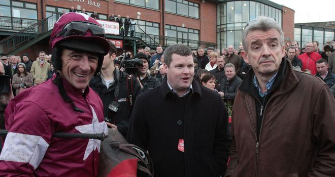 Davy Russell (left) has confirmed his split with Gigginstown Stud