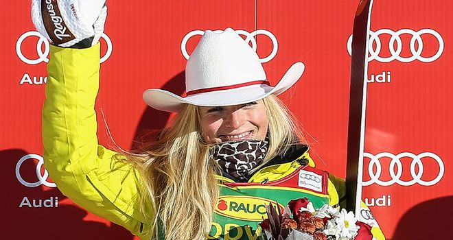 Lara Gut: Leads the overall standings after victory in the super-G