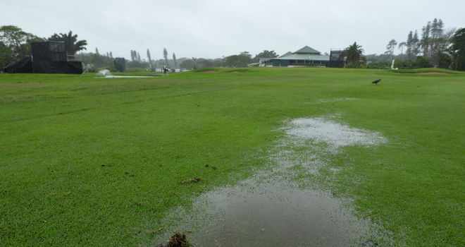 Rain once again interrupted play at the Nelson Mandela Championship on Thursday
