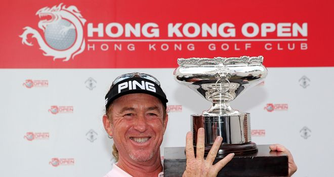 Miguel Angel Jimenez: Breaks his own record as the oldest winner on the European Tour