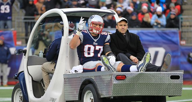 Rob Gronkowski: Facing long road back from serious knee injury