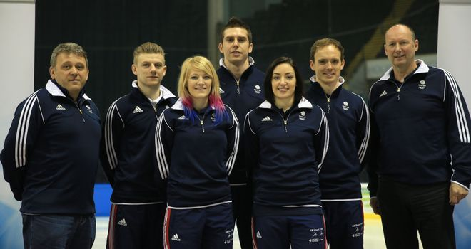 Stuart Horsepool (far left): Sees having the right attitude in training as crucial to his squad's medal hopes