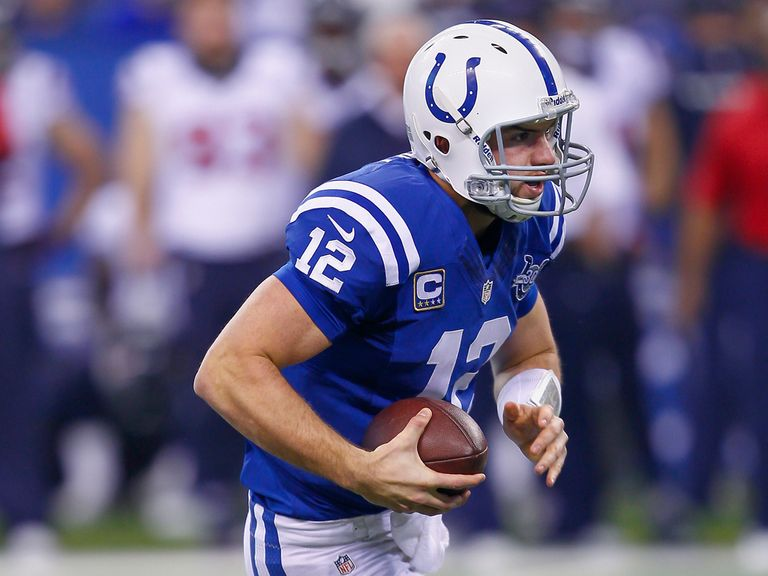 Luck in action for the Colts on Sunday